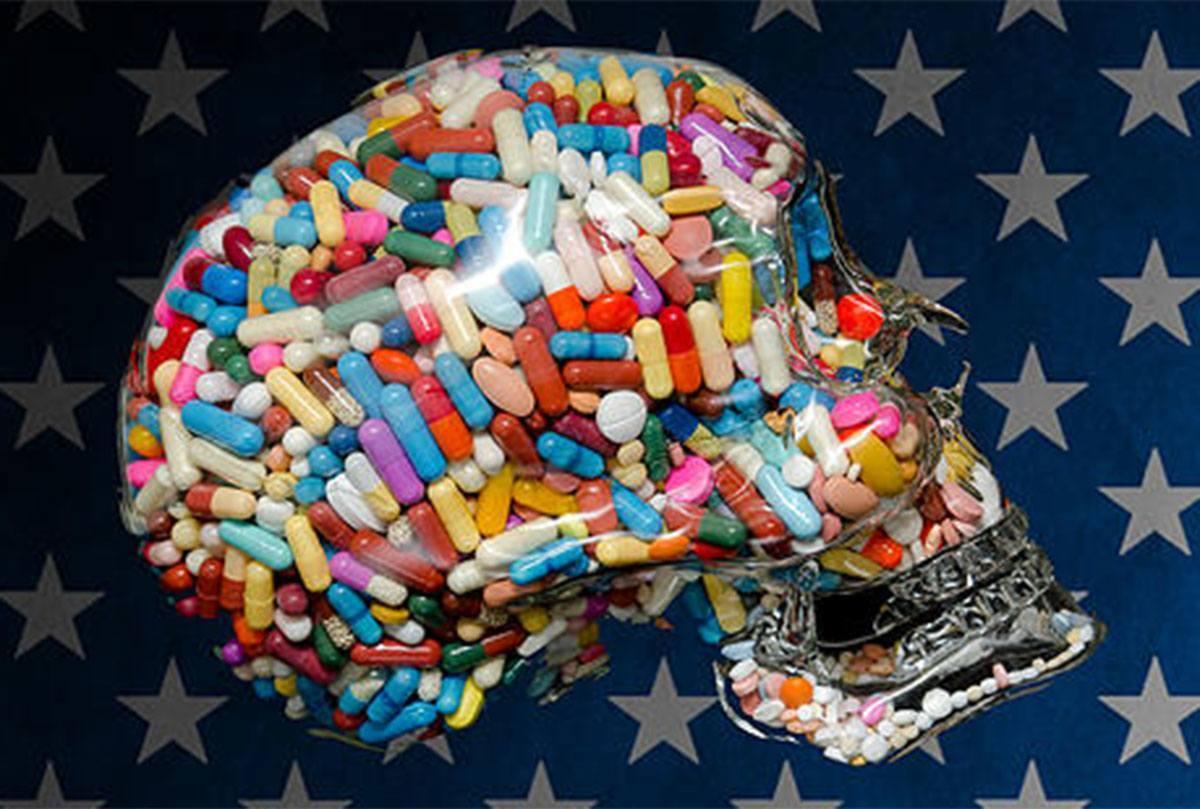 American Addict Skull